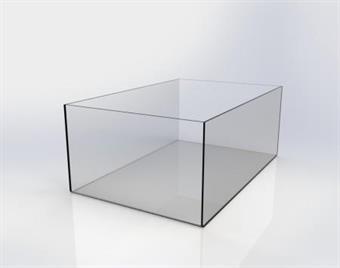 Plexiglaslåda - 140x280x80mm
